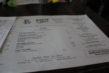 Buxton Hall Barbecue menu