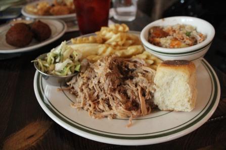 Whole hog pulled pork plate