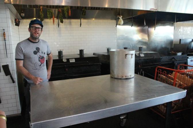Elliot in the kitchen