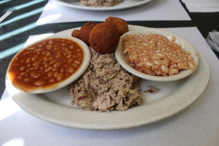 Carolina Bar-B-Q chopped pork dinner combo