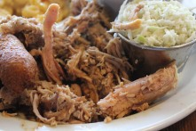 Closeup of pulled pork