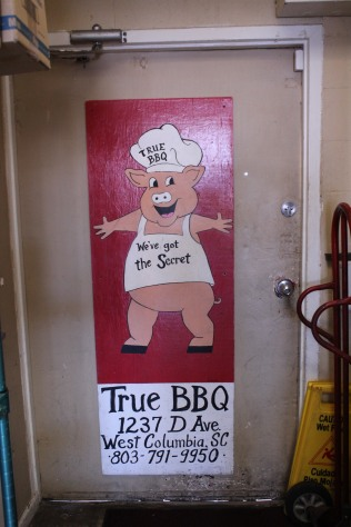 Interior of True BBQ