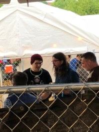 Dave Grohl hanging out at our neighbors tent all weekend - The Beached Pig