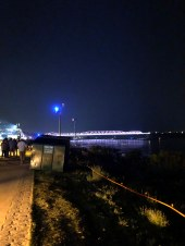 Nighttime on the Mississippi River