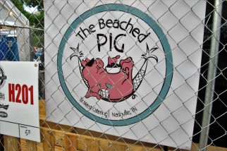 The Beached Pig team on one side - where David Grohl